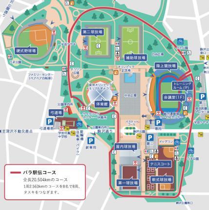 駒沢パラ駅伝コース